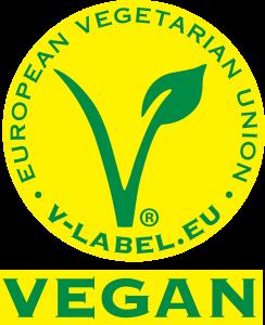 V-Label logo vegán