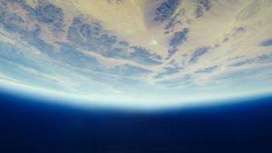 planéta Zem z vesmíru